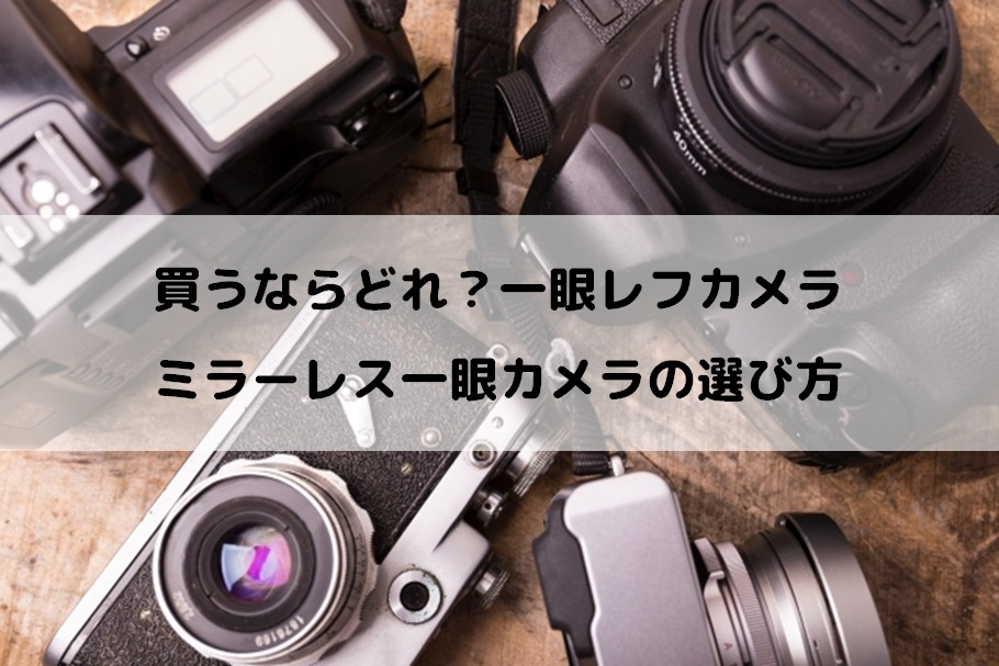 買うならどれ?一眼レフカメラ、ミラーレス一眼カメラの選び方